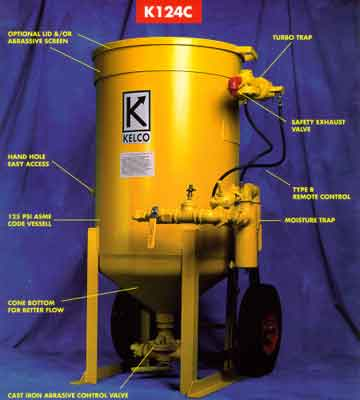 Abrasive blast cleaning equipment from Kelco Sales and Engineering Co